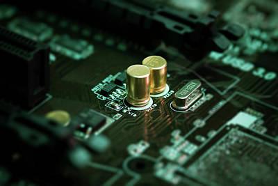 Circuit Photograph - Circuit Board by Wladimir Bulgar