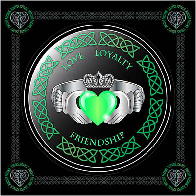 Ring Digital Art - Claddagh Ring by Ireland Calling