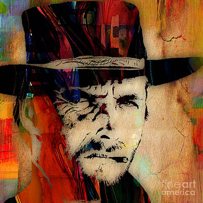 Clint Eastwood Collection Art Print by Marvin Blaine