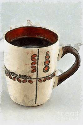 Mug Painting - Coffee by George Atsametakis