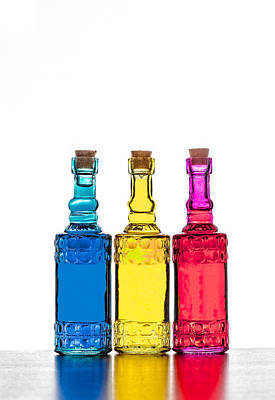 Photograph - Colorful Bottles  by Peter Lakomy