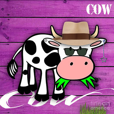 Cool Cow Collection Art Print