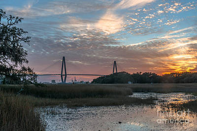 Photograph - Charleston Cooper River Bridge by Dale Powell