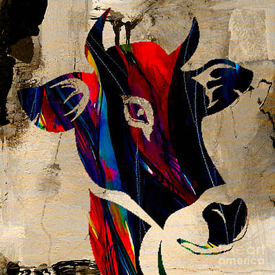Cow Skull Mixed Media - Cow by Marvin Blaine