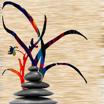 Zen Mixed Media - Creating Balance by Marvin Blaine