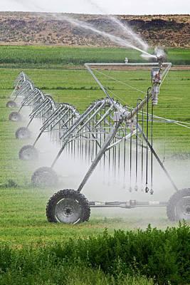 Pivot Photograph - Crop Irrigation by Jim West