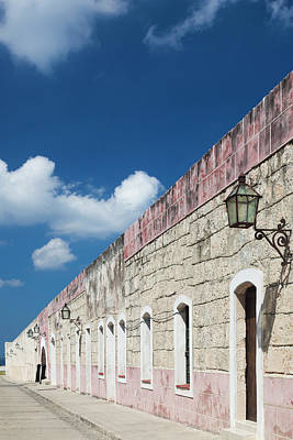Casablanca Wall Art - Photograph - Cuba, Havana, Fortaleza De San Carlos by Walter Bibikow