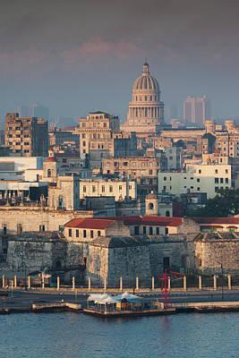 Casablanca Wall Art - Photograph - Cuba, Havana, Havana Vieja, Elevated by Walter Bibikow