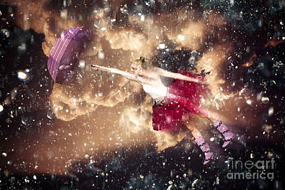 Floating Girl Photograph - Dancing In The Rain by Jorgo Photography - Wall Art Gallery