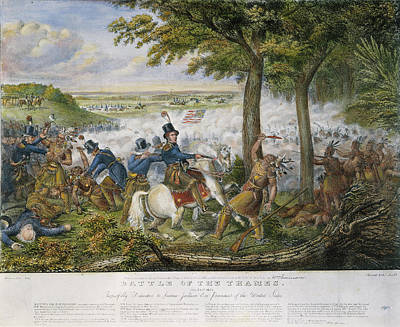 Early October Painting - Death Of Tecumseh, 1813 by Granger