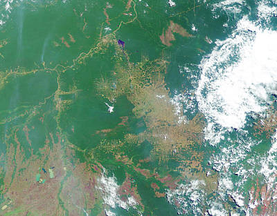 Deforestation Photograph - Deforestation In The Amazon by Nasa Earth Observatory