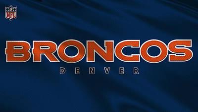 Denver Broncos Uniform Art Print by Joe Hamilton