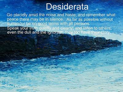 Painting - Desiderata by Conor Murphy