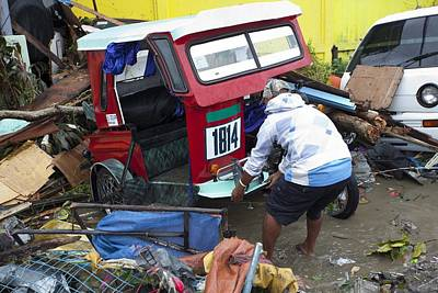 Destruction After Super Typhoon Haiyan Art Print by Jim Edds