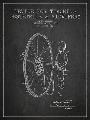 Pregnant Drawing - Device For Teaching Obstetrics And Midwifery Patent From 1951 -  by Aged Pixel