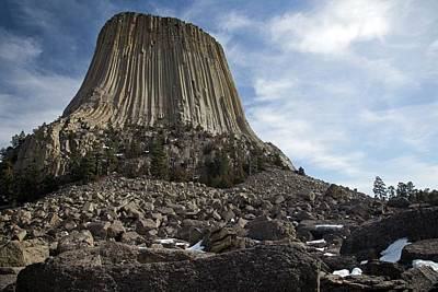 Devils Tower Photograph - Devils Tower by Jim West