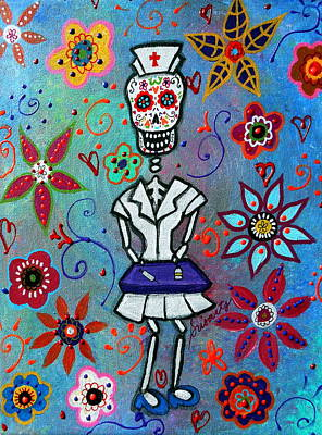 Beer Blueprints - Dia De Los Muertos Nurse by Pristine Cartera Turkus