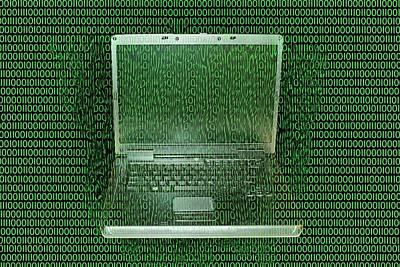 Data Photograph - Digital Meltdown by Carol & Mike Werner