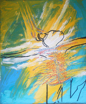 Painting - Dinka Dance - South Sudan by Gloria Ssali