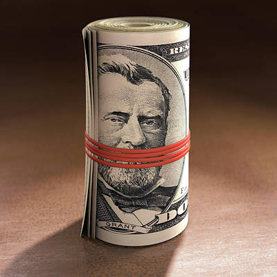 Dollar Bills Rolled Up Art Print