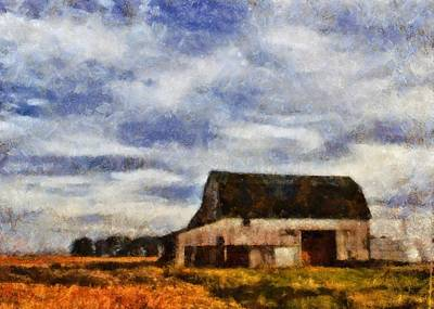 Old Barn Painting - Down On The Farm Ohio Country Scene by Dan Sproul