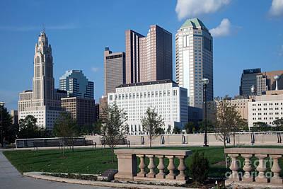 Downtown Skyline Of Columbus Art Print by Bill Cobb