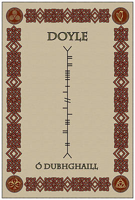 Print featuring the digital art Doyle Written In Ogham by Ireland Calling