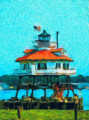 Clear Sky Digital Art - Drum Point Light by Unknown
