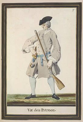 Dutch Military Costurmes And Musket Exerc Art Print