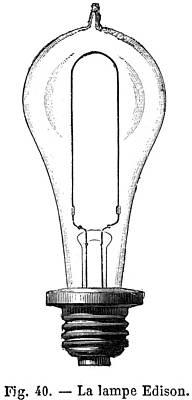 Edison Lamp, 19th Century Print by Granger