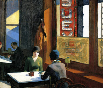 Chopped Photograph - Chop Suey by Edward Hopper