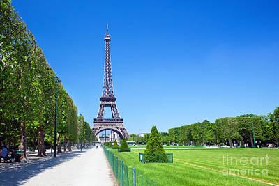 Summer Photograph - Eiffel Tower by Michal Bednarek