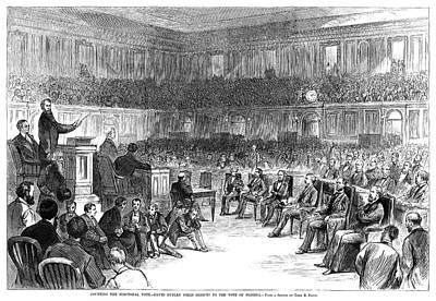 Podium Painting - Electoral Commission, 1877 by Granger