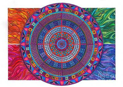 Colourfull Painting - 4 Elements by Lidia Wasowicz