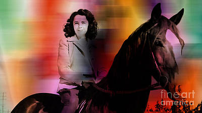 John Keaton Mixed Media - Elizabeth Taylor by Marvin Blaine