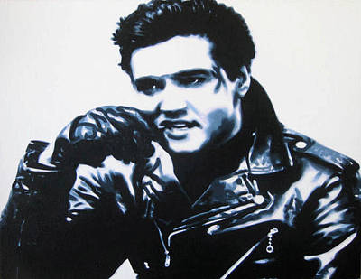 Painting - Elvis by Luis Ludzska
