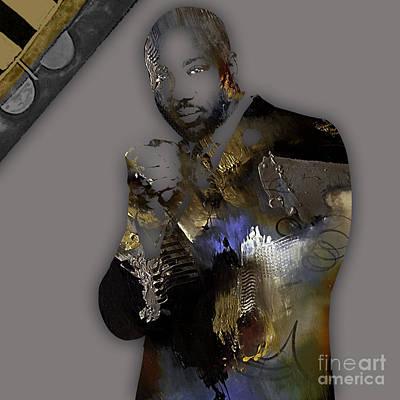 Actors Mixed Media - Empire's Malik Yoba Vernon Turner by Marvin Blaine