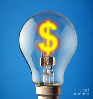 Energy Costs, Conceptual Image Art Print