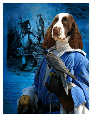 Painting - English Springer Spaniel Art Canvas Print by Sandra Sij