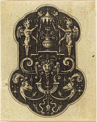 Medusa Drawing - Etienne Delaune French, 1518-1519 - 1583 by Quint Lox