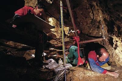 Excavations At Sima De Los Huesos Art Print