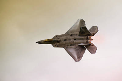 Formation Flying Photograph - F-22 Raptor by Sebastian Musial