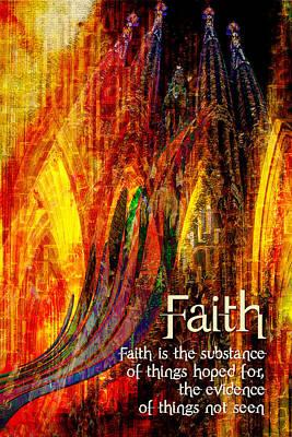 Digital Art - Faith by Chuck Mountain