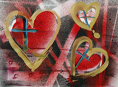 Painting - Faithloop by Richard Sean Manning