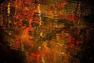 Namaste With Pixels Royalty Free Images - Fall Reflections Royalty-Free Image by Prince Andre Faubert