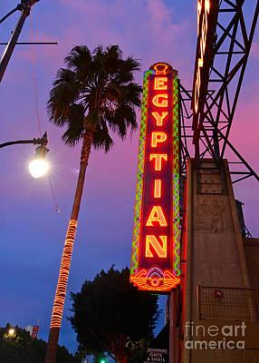 Famous Egyptian Theater In Hollywood California. Art Print by Jamie Pham