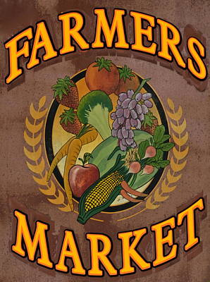 Peaches Corner Photograph - Farmers Market by Frozen in Time Fine Art Photography