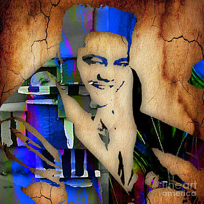 Blue Mixed Media - Fats Domino Collection by Marvin Blaine