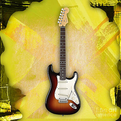Fender Stratocaster Collection Art Print by Marvin Blaine