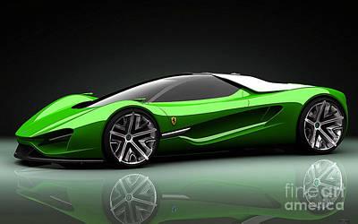 Car Mixed Media - Ferrari by Marvin Blaine